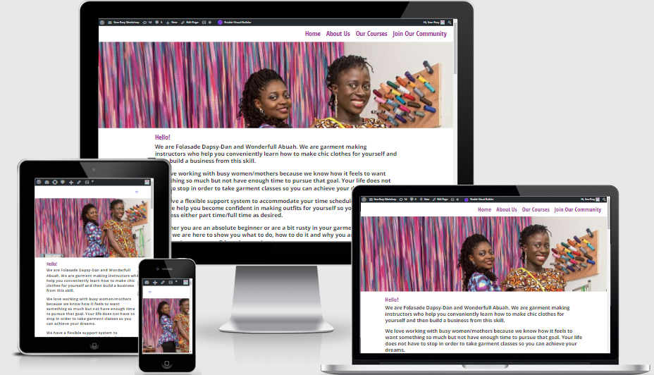 website designed by inyene