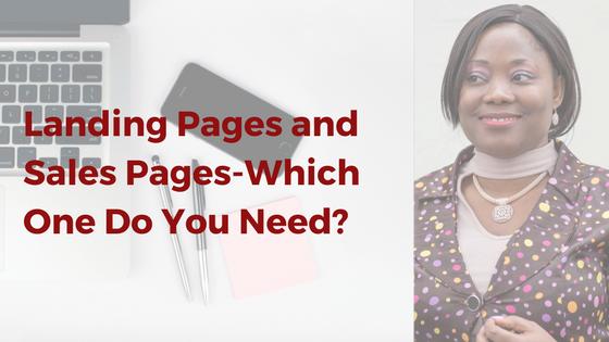 landing pages vs sales pages